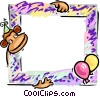Vector Clipart illustration  of a Birthday frame