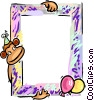 Vector Clipart graphic  of a Birthday frame