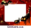 Vector Clipart image  of a Halloween Frame
