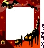 Vector Clip Art graphic  of a Halloween Frame