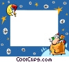 Christmas themed frame Vector Clipart image