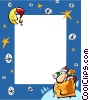 Vector Clipart picture  of a Christmas themed frame