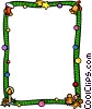 Vector Clip Art image  of a Christmas themed frame