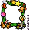 Vector Clip Art graphic  of a Christmas themed frame