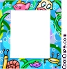 Vector Clipart picture  of an Aquatic themed frame