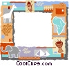 Vector Clip Art graphic  of an African themed frame