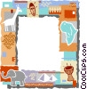 Vector Clip Art picture  of an African themed frame