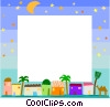 Middle eastern themed frame Vector Clipart picture
