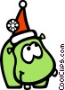 Vector Clip Art image  of a Santa's helper