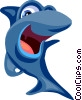 Vector Clip Art graphic  of a Cartoon shark