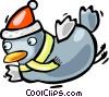 Santa's helper Vector Clip Art image
