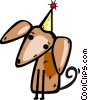 Birthday dog Vector Clipart graphic