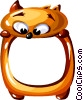 Vector Clipart graphic  of a Cartoon cat frame