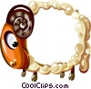Vector Clipart picture  of a Cartoon sheep frame