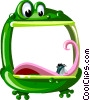 Cartoon frog frame Vector Clipart graphic