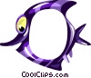 Vector Clip Art graphic  of a Cartoon tropical fish frame