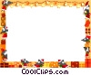 Vector Clipart image  of a Christmas themed frame