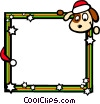 Christmas themed frame Vector Clipart picture