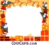 Christmas themed frame Vector Clipart illustration