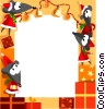 Christmas themed frame Vector Clip Art graphic