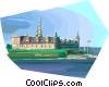 Denmark's Kronborg Castle Vector Clip Art graphic