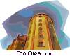 Copenhagen Tower, Denmark Vector Clipart illustration