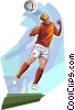 Danish football player Vector Clip Art picture
