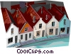 Vector Clip Art image  of a Netherland houses