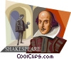 William Shakespeare Vector Clipart illustration