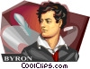 Lord Byron Vector Clipart graphic