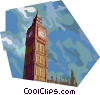 Big Ben, United Kingdom Vector Clipart illustration