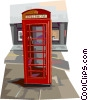 Vector Clip Art graphic  of a Phone Booth