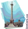 Nelson's Column, United Kingdom Vector Clip Art graphic