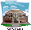 Vector Clip Art graphic  of a Royal Albert Hall