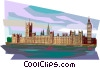 British Parliament Buildings Vector Clipart illustration