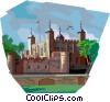 Vector Clip Art image  of a Tower of London