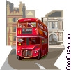 Double Decker bus Vector Clipart illustration
