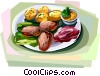 Frikadeller, Danish meat dish Vector Clip Art picture