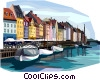 Vector Clipart picture  of a Copenhagen