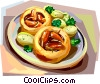 British cuisine, Toad in the hole Vector Clipart picture