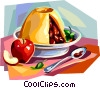 Vector Clipart graphic  of a British cuisine