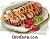 Danish sweet cake Vector Clipart picture