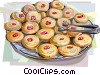 Vector Clipart image  of a Danish cookies