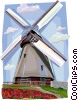 Old windmill, Denmark Vector Clip Art picture