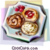 Danish pastries Vector Clip Art picture