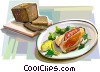 Vector Clip Art graphic  of a Danish cuisine