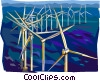 Wind power Vector Clipart picture