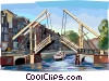Bridge in Amsterdam Vector Clip Art picture