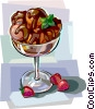 Vector Clipart graphic  of a Danish dessert