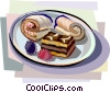 Vector Clipart picture  of a Dutch cream bites